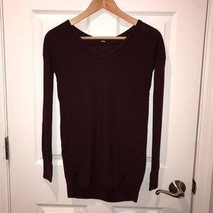 Lululemon maroon knit sweater Sz 2 XXS